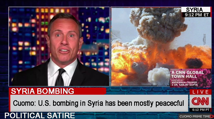 "CNN reports bombing of Syria ""Mostly Peaceful"""