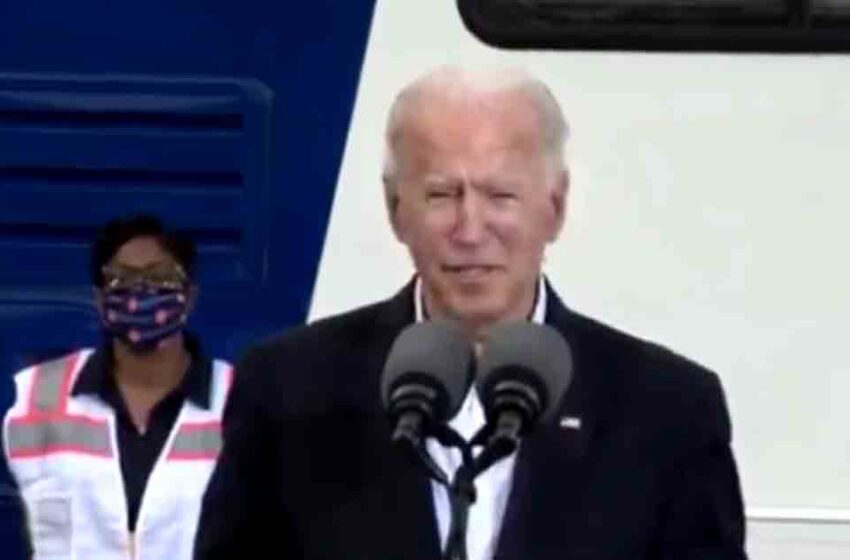 Now that's funny! Biden stumbles his words in Texas