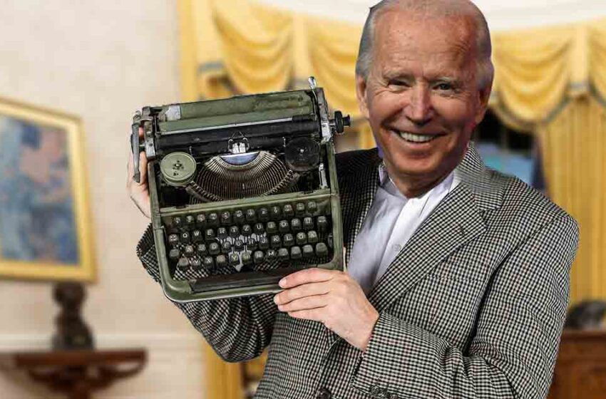 Joe Biden thrilled to find out White House still had his old typewriter in storage
